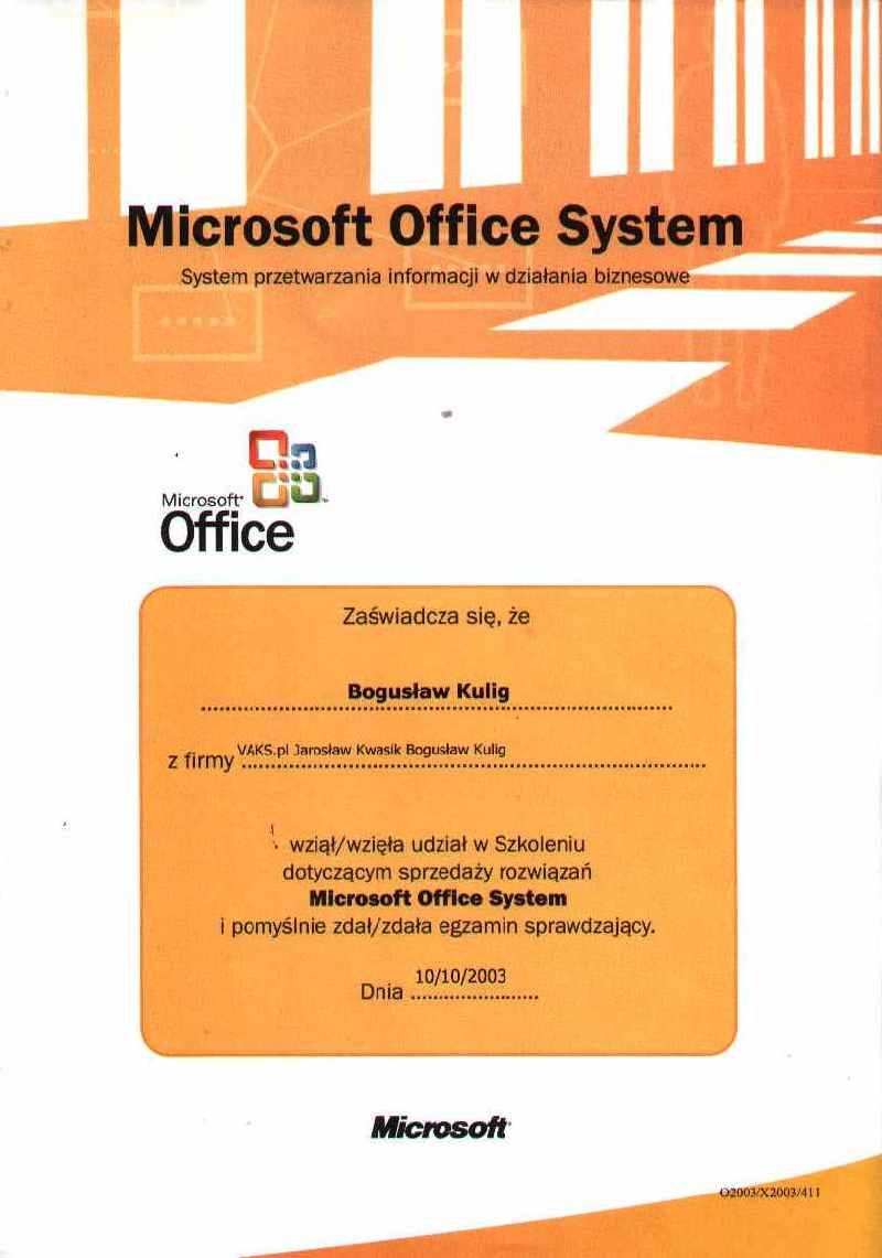 Microsoft Office System-Bogusław Kulig