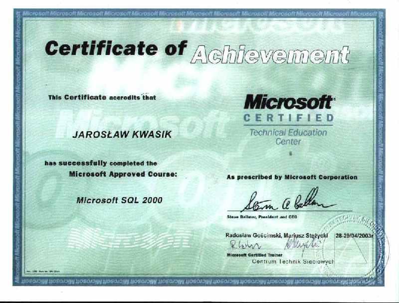 Microsoft SQL 2000