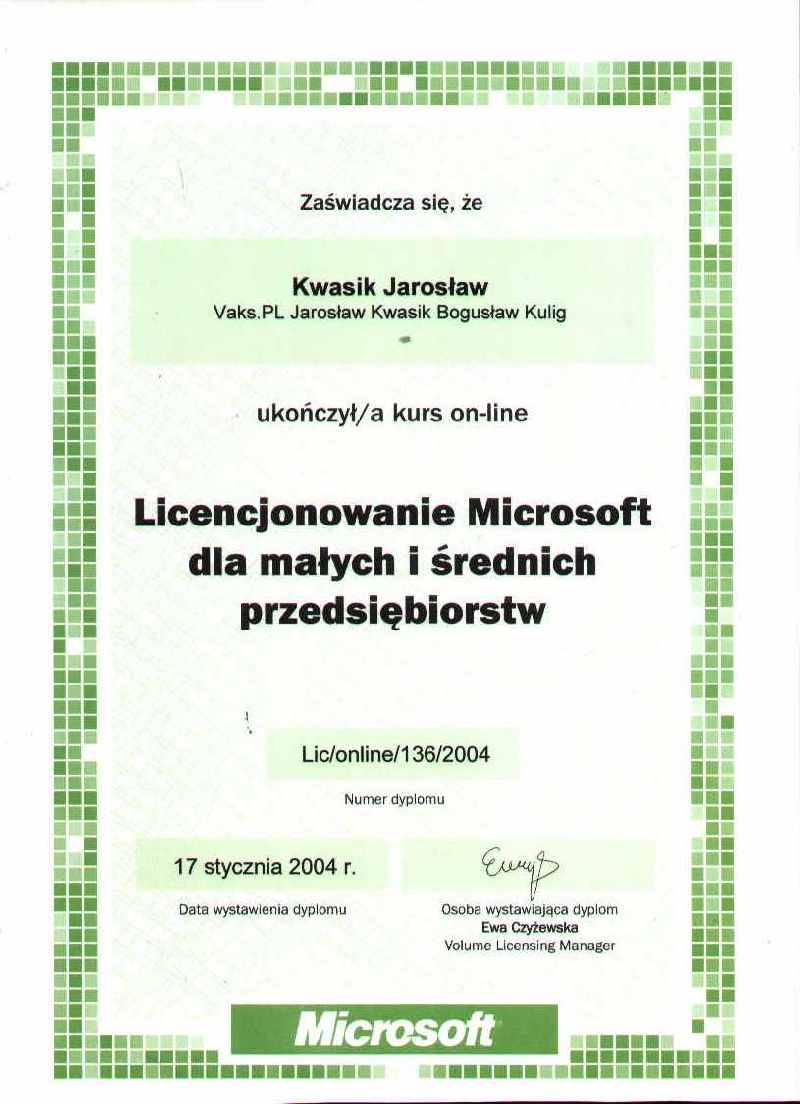 Licencjonowanie Microsoft dla małych i średnich przedsiębiorstw