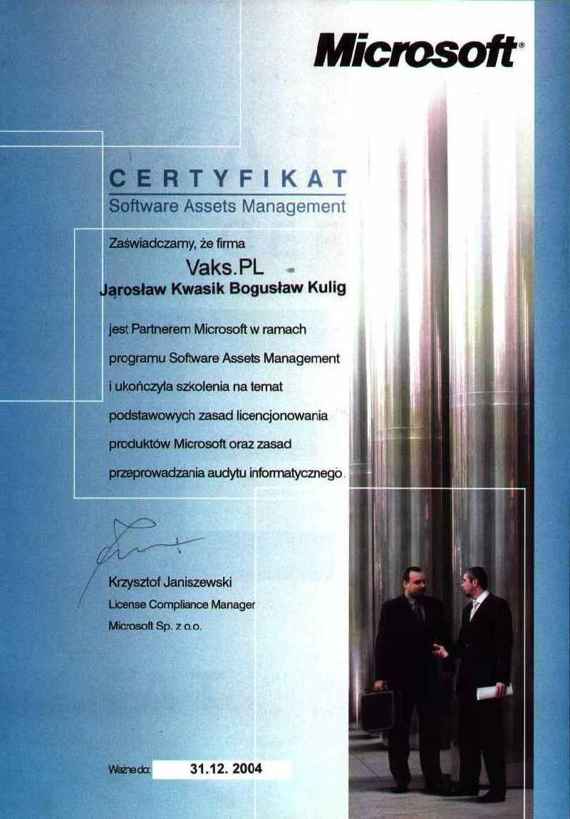Software Assets Management 2004