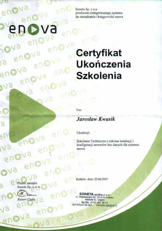 enova - Szkolenie serwery baz danych